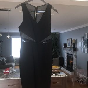 Dynamite black sheer dress size medium